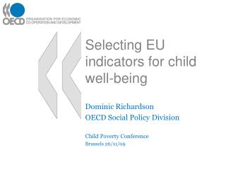 Selecting EU indicators for child well-being