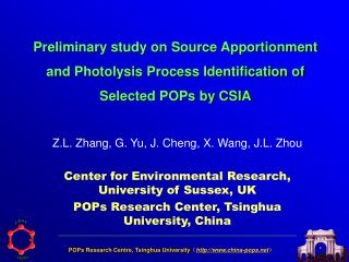 Preliminary study on Source Apportionment and Photolysis Process Identification of Selected POPs by CSIA