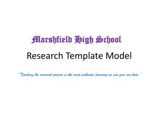 Research Template Model