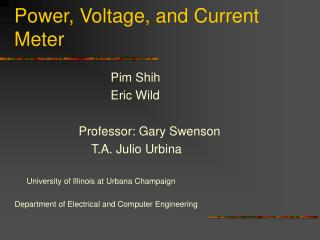 Power, Voltage, and Current Meter