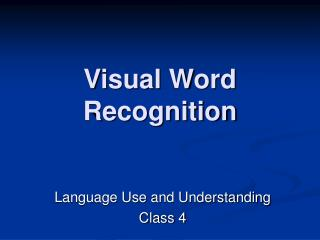 Visual Word Recognition