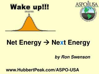 Net Energy    Ne x t Energy by Ron Swenson