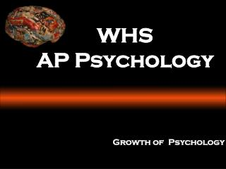 WHS AP Psychology