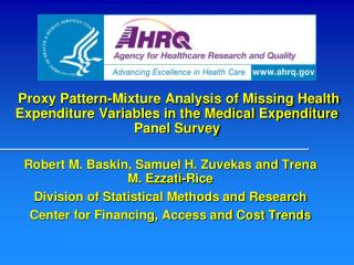 Proxy Pattern-Mixture Analysis of Missing Health Expenditure Variables in the Medical Expenditure Panel Survey