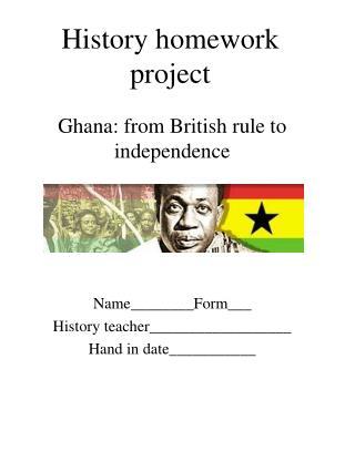 History homework project