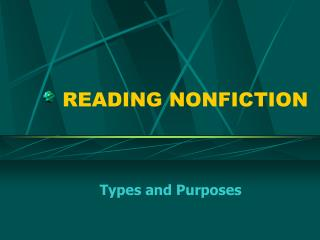 READING NONFICTION