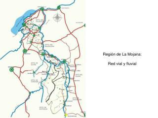 Región de La Mojana: Red vial y fluvial