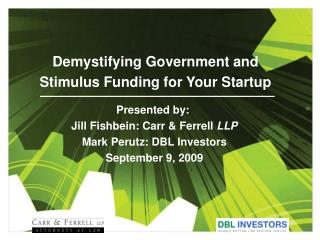 Demystifying Government and Stimulus Funding for Your Startup