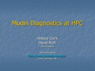 Model Diagnostics at HPC