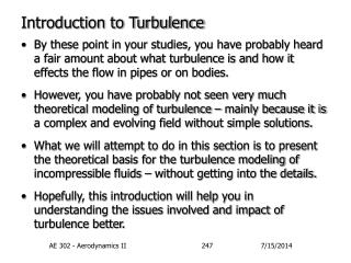 Introduction to Turbulence