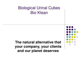 Biological Urinal Cubes Bio Klean