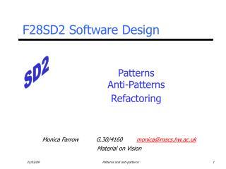 Patterns Anti-Patterns Refactoring