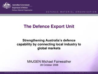 The Defence Export Unit