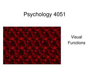 Psychology 4051