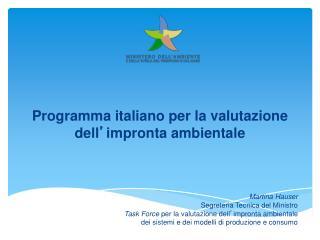Programma italiano per la valutazione dell ' impronta ambientale