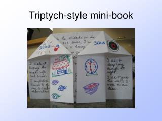 Triptych-style mini-book