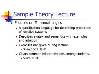 Sample Theory Lecture
