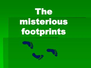 The misterious footprints