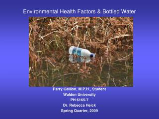 Environmental Health Factors & Bottled Water
