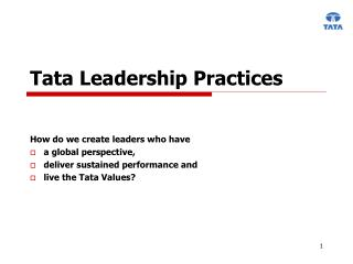 Tata Leadership Practices