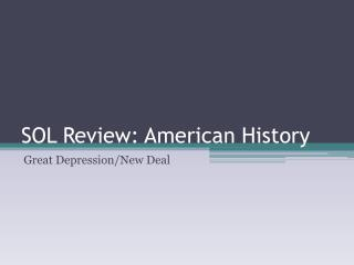 SOL Review: American History