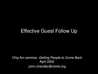 Effective Guest Follow Up