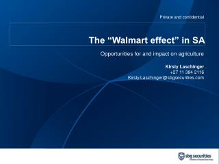 The �Walmart effect� in SA