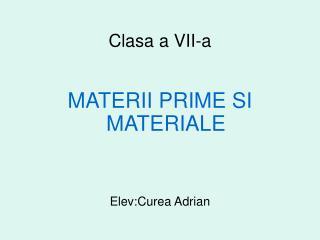 Clasa a VII-a