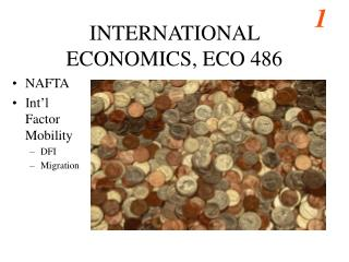 INTERNATIONAL ECONOMICS, ECO 486