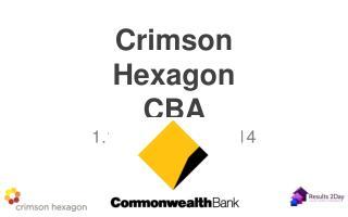 Crimson Hexagon CBA  1.1.2013 – 30.1.2014