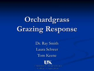 Orchardgrass Grazing Response