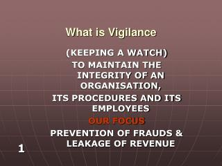 What is Vigilance