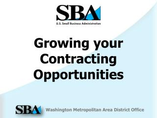 Growing your  Contracting Opportunities
