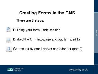 Creating Forms in the CMS