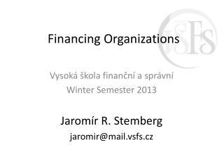 Financing Organizations