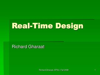 Real-Time Design