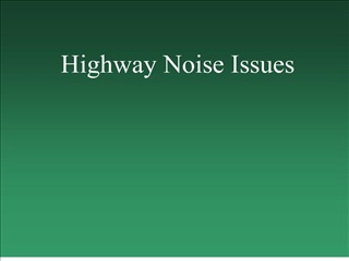 Highway Noise Issues