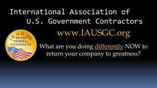 International Association of     U.S. Government Contractors
