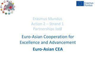Erasmus Mundus Action 2 – Strand 1 Partnerships  lot8
