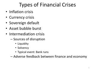 Types of Financial Crises