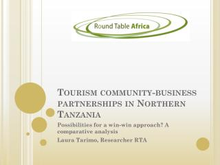 Tourism community-business partnerships in Northern Tanzania