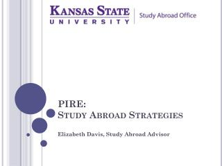 PIRE: Study Abroad Strategies