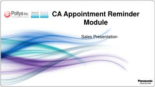 CA Appointment Reminder Module