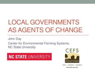 Local Governments as Agents of Change