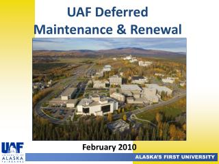 UAF  Deferred  Maintenance & Renewal