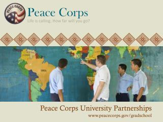 Peace Corps University Partnerships