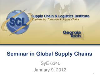 Seminar in Global Supply Chains