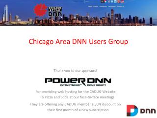 Chicago  Area DNN Users  Group