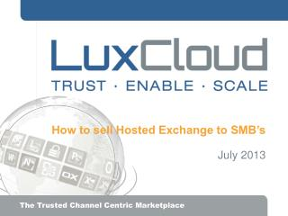 How to sell Hosted Exchange to SMB's