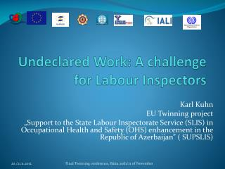 Undeclared Work: A  challenge for  Labour  Inspectors